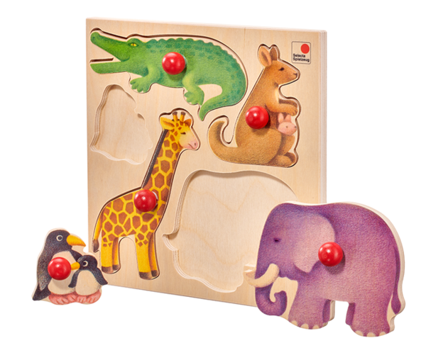 Selecta 62046 Holzpuzzle Zoo